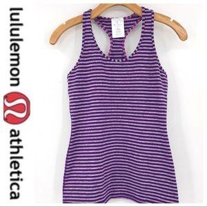 💕SALE💕 Ivivva  Lululemon Purple Stripe Racerback